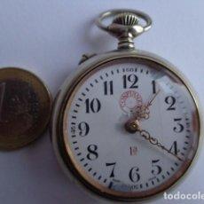 Relojes de bolsillo: MUY ANTIGUO SOBRE 1900 Y BONITO RELOJ BOLSILLO ROSKOPF CONFIANZA, COMPLETO FUNCIONANDO Y BUEN ESTADO. Lote 140072702
