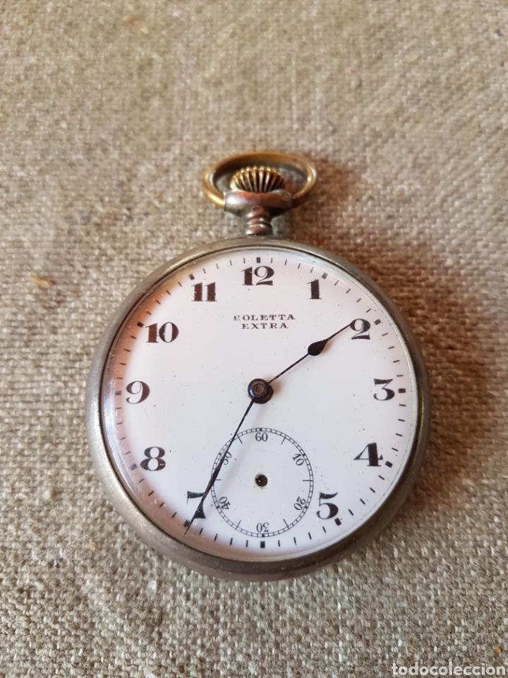 RELOJ BOLSILLO SOLETTA EXTRA PLATA SUIZO (Relojes - Bolsillo Carga Manual)