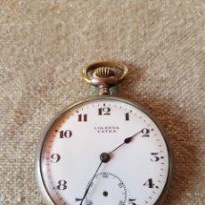 Relojes de bolsillo: RELOJ BOLSILLO SOLETTA EXTRA PLATA SUIZO. Lote 140223752