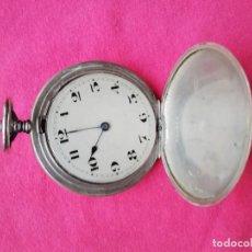 Relojes de bolsillo: RELOJ DE BOLSILLO EN PLATA DE LEY 800. Lote 140281662