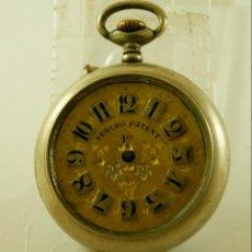 Relojes de bolsillo: SEGURO PATENT TIPO ROSKOPF PRECIOSA ESFERA. Lote 140380046