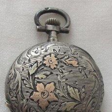 Relojes de bolsillo: RELOJ DE BOLSILLO ANTIGUO PLATA Y ORO LESIEUR. Lote 140526682