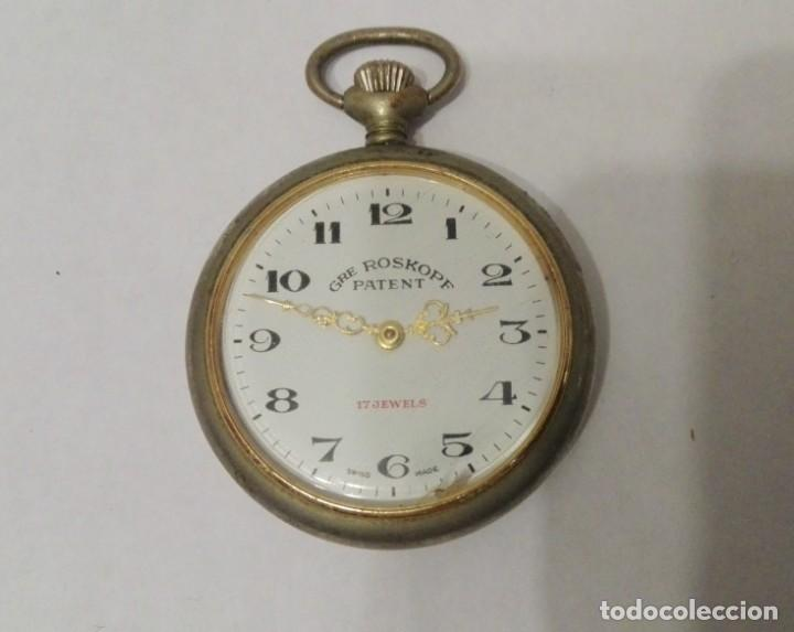 RELOJ DE BOLSILLO GRE ROSKOPF PATENT.MADE SWISS. (Relojes - Bolsillo Carga Manual)