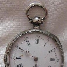 Relojes de bolsillo: RELOJ DE BOLSILLO ANTIGUO PLATA Y ORO JULES LALANNE. Lote 140904358