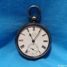Relojes de bolsillo: PRECIOSO RELOJ DE BOLSILLO A CUERDA T. R. RUSSELL LIVERPOOL. TIPO CATALINO SIN LLAVE. DE PLATA. Lote 140942608