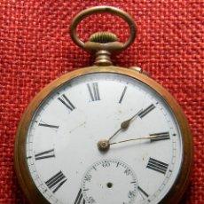 Relojes de bolsillo: RELOJ CABALLERO DE CARGA MANUAL DE BRONCE. 49 MM SIN CORONA. 65 GRAMOS. NUMERADO. BREVETS. SUIZA. Lote 141234402