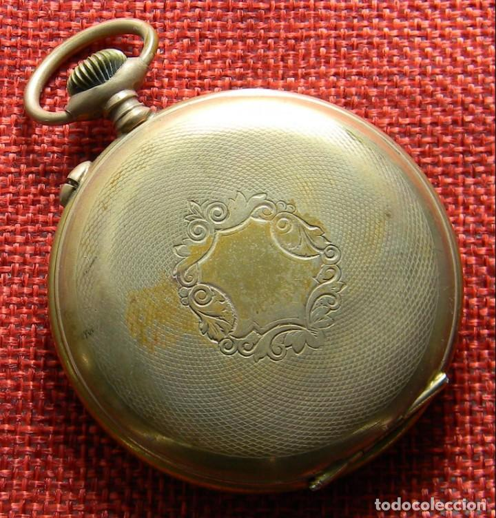 Relojes de bolsillo: Reloj caballero de carga manual de bronce. 49 mm sin corona. 65 gramos. Numerado. Brevets. Suiza - Foto 2 - 141234402
