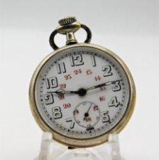 Relojes de bolsillo: ANTIGUO RELOJ DE BOLSILLO-2 TAPAS- FUNCIONANDO-1920. Lote 141510730