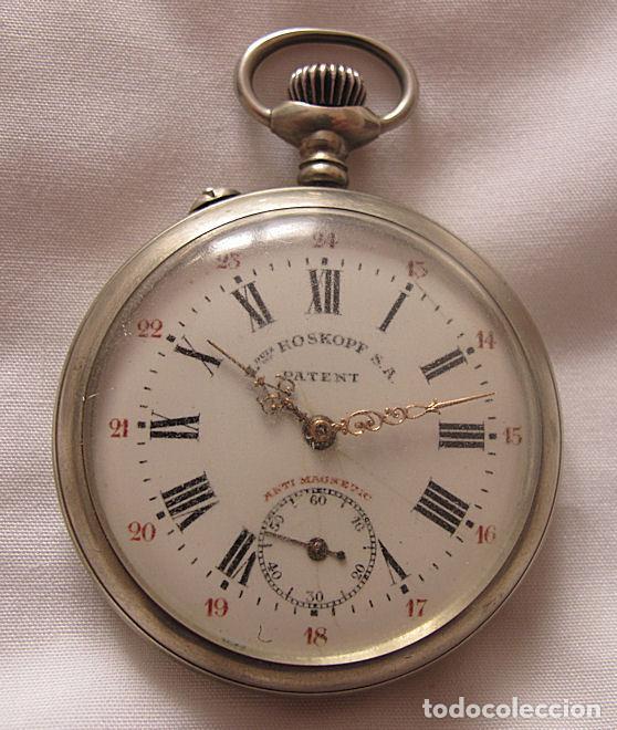 RELOJ DE BOLSILLO ANTIGUO LOUIS ROSKOPF (Relojes - Bolsillo Carga Manual)