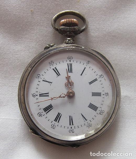 a2088c8b15ad 5 fotos RELOJ DE BOLSILLO ANTIGUO PLATA RH (Relojes - Bolsillo Carga  Manual) ...