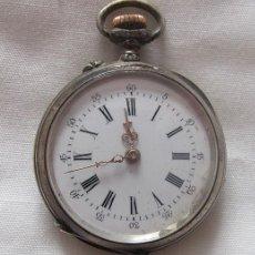 Relojes de bolsillo: RELOJ DE BOLSILLO ANTIGUO PLATA RH. Lote 141564314