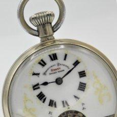 Relojes de bolsillo: HEBDOMAS-RELOJ DE BOLSILLO-8 DÍAS--FINAL SIGLO XIX / PRINCIPIO SIGLO XX-FUNCIONANDO-. Lote 141717322