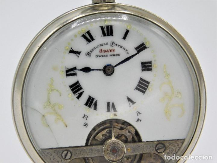 Relojes de bolsillo: HEBDOMAS-RELOJ DE BOLSILLO-8 DÍAS--FINAL SIGLO XIX / PRINCIPIO SIGLO XX-FUNCIONANDO- - Foto 10 - 141717322