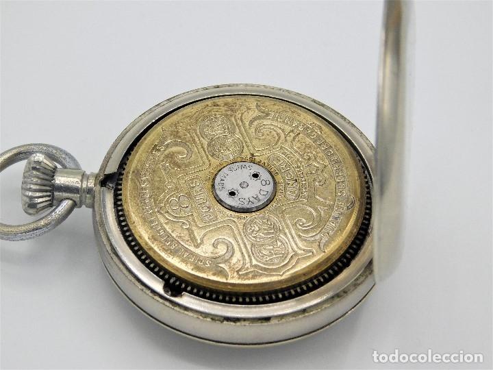 Relojes de bolsillo: HEBDOMAS-RELOJ DE BOLSILLO-8 DÍAS--FINAL SIGLO XIX / PRINCIPIO SIGLO XX-FUNCIONANDO- - Foto 6 - 141717322