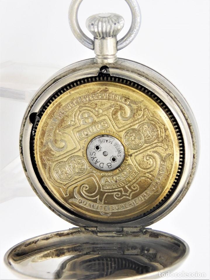 Relojes de bolsillo: HEBDOMAS-RELOJ DE BOLSILLO-8 DÍAS--FINAL SIGLO XIX / PRINCIPIO SIGLO XX-FUNCIONANDO- - Foto 7 - 141717322