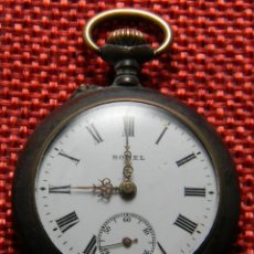 Relojes de bolsillo: ANTIGUO RELOJ BOLSILLO - MARCA BOREL - PAVONADO - 22 GRAMOS – 31 MM – NUMERADO. A REPARAR.. Lote 141860658