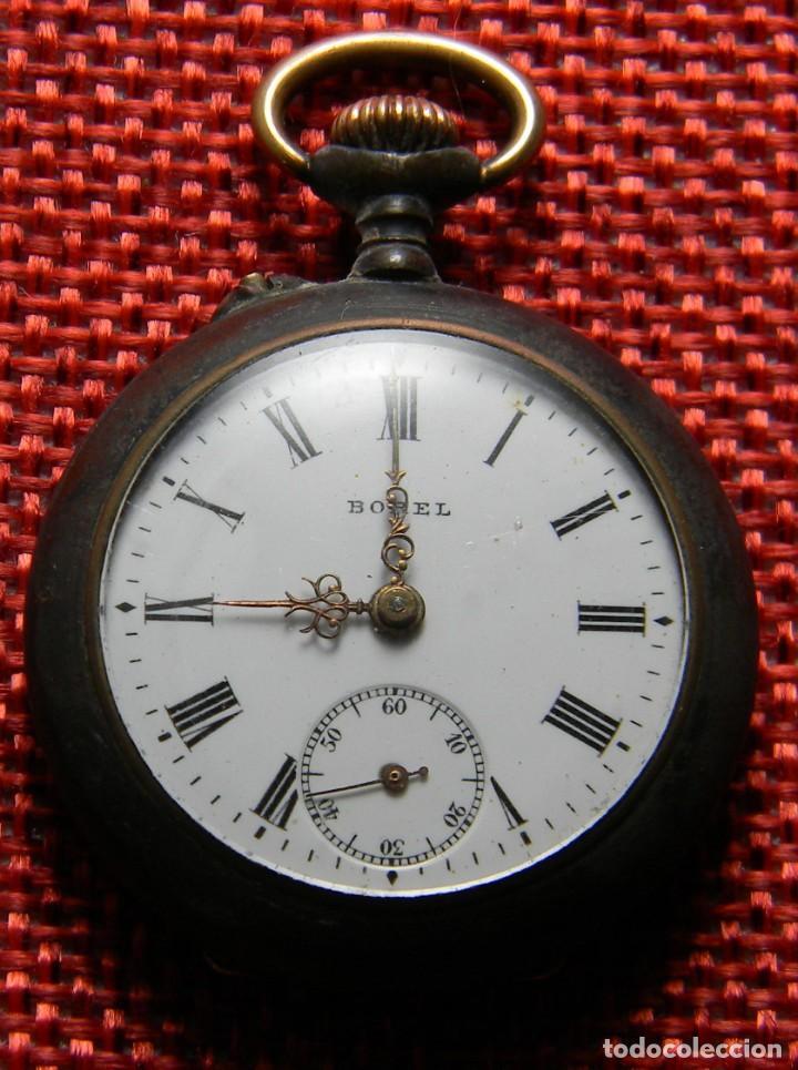 Relojes de bolsillo: Antiguo reloj bolsillo - Marca Borel - Pavonado - 22 gramos – 31 mm – Numerado. A reparar. - Foto 7 - 141860658