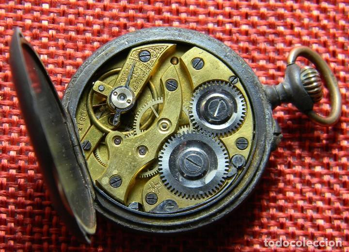 Relojes de bolsillo: Antiguo reloj bolsillo - Marca Borel - Pavonado - 22 gramos – 31 mm – Numerado. A reparar. - Foto 8 - 141860658