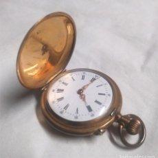 Relojes de bolsillo: RELOJ BOLSILLO AÑOS 20, RELOJERIA ESPAÑOLA MIGUEL GIRBENT MALLORCA, NO FUNCIONA, CON ESTUCHE. Lote 141894910