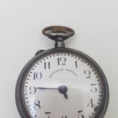 Relojes de bolsillo: RELOJ MARCA REGULADOR NACIONAL.SISTEMA ROSCKOFF. Lote 142019992