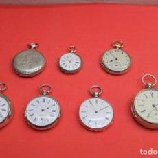 Relojes de bolsillo: LOTE DE SIETE RELOJES DE BOLSILLO DE PLATA DE LEY. Lote 142087374