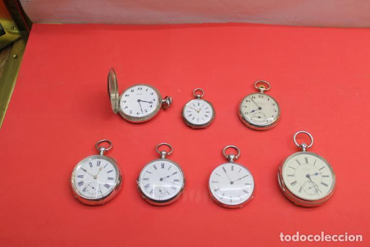 Relojes de bolsillo: LOTE DE SIETE RELOJES DE BOLSILLO DE PLATA DE LEY - Foto 3 - 142087374