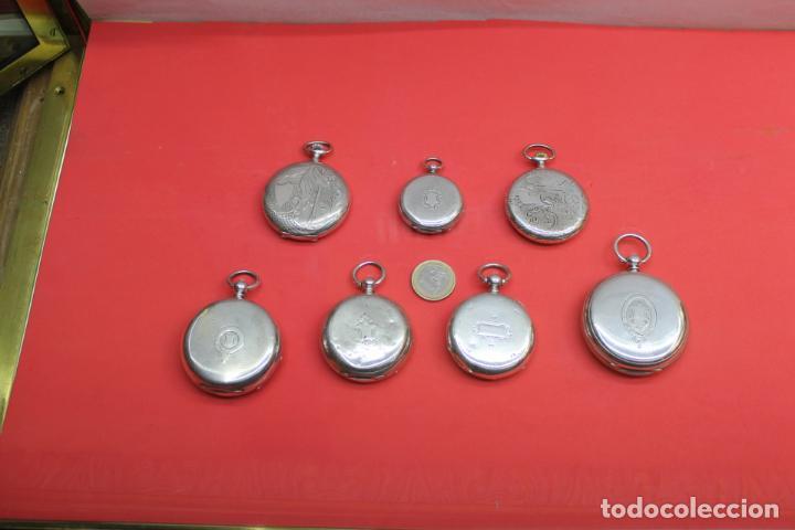 Relojes de bolsillo: LOTE DE SIETE RELOJES DE BOLSILLO DE PLATA DE LEY - Foto 2 - 142087374