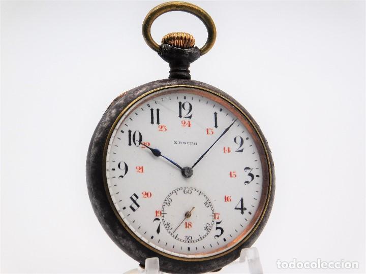 ZENITH GRAN PRIX 1900-RELOJ DE BOLSILLO-2 TAPAS-CIRCA 1920-FUNCIONANDO (Relojes - Bolsillo Carga Manual)