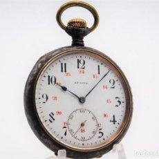 Relojes de bolsillo: ZENITH GRAN PRIX 1900-RELOJ DE BOLSILLO-2 TAPAS-CIRCA 1920-FUNCIONANDO. Lote 142196926