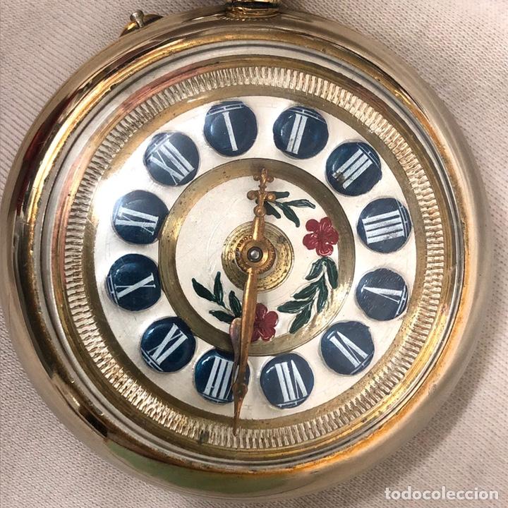 Relojes de bolsillo: RELOJ BOLSILLO CUERDA COURVOISIER FRERES - FUNCIONA - - Foto 2 - 142387480