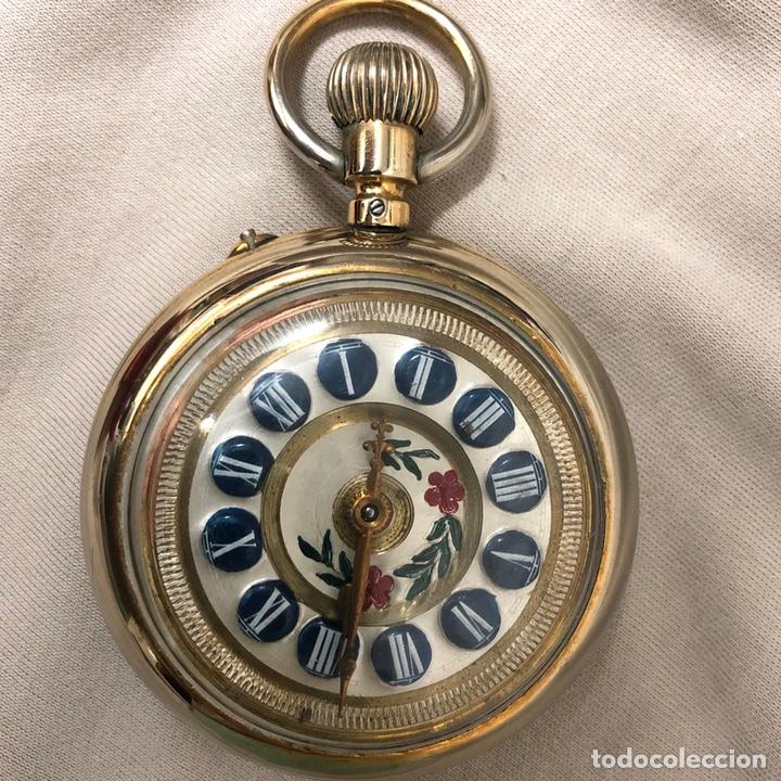 Relojes de bolsillo: RELOJ BOLSILLO CUERDA COURVOISIER FRERES - FUNCIONA - - Foto 3 - 142387480