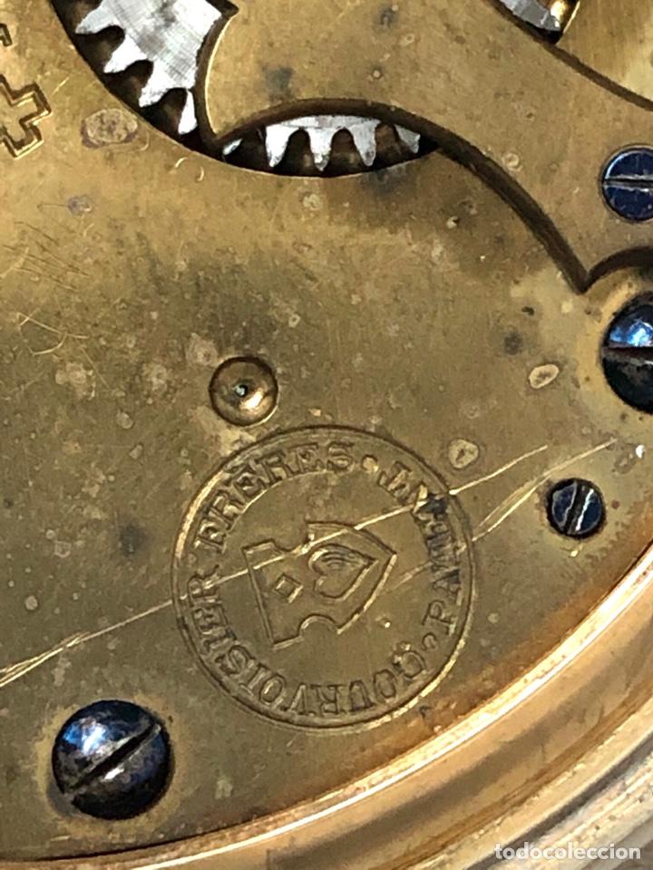 Relojes de bolsillo: RELOJ BOLSILLO CUERDA COURVOISIER FRERES - FUNCIONA - - Foto 12 - 142387480