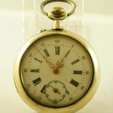 Relojes de bolsillo: RELOJ MECANICO ANDA Y PARA 48MM. Lote 142456998