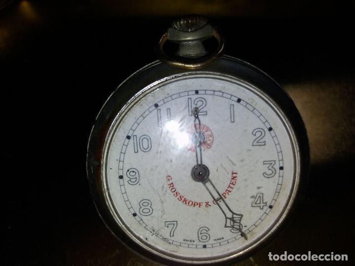 RELOJ ANTIGUO * ROSSKOPF & PATENT * SWISS MADE -10440 (Relojes - Bolsillo Carga Manual)