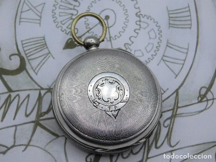 Relojes de bolsillo: WALTHAM-RELOJ BOLSILLO-DE PLATA-CIRCA 1890-FUNCIONANDO-3 TAPAS - Foto 3 - 142611454