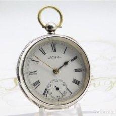 Relojes de bolsillo: WALTHAM-RELOJ BOLSILLO-DE PLATA-CIRCA 1890-FUNCIONANDO-3 TAPAS. Lote 142611454