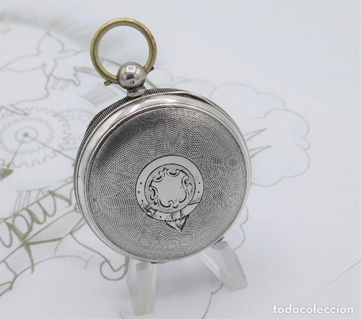 Relojes de bolsillo: WALTHAM-RELOJ BOLSILLO-DE PLATA-CIRCA 1890-FUNCIONANDO-3 TAPAS - Foto 7 - 142611454