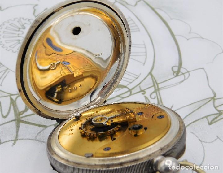 Relojes de bolsillo: WALTHAM-RELOJ BOLSILLO-DE PLATA-CIRCA 1890-FUNCIONANDO-3 TAPAS - Foto 4 - 142611454