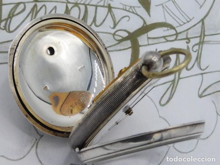 Relojes de bolsillo: WALTHAM-RELOJ BOLSILLO-DE PLATA-CIRCA 1890-FUNCIONANDO-3 TAPAS - Foto 9 - 142611454