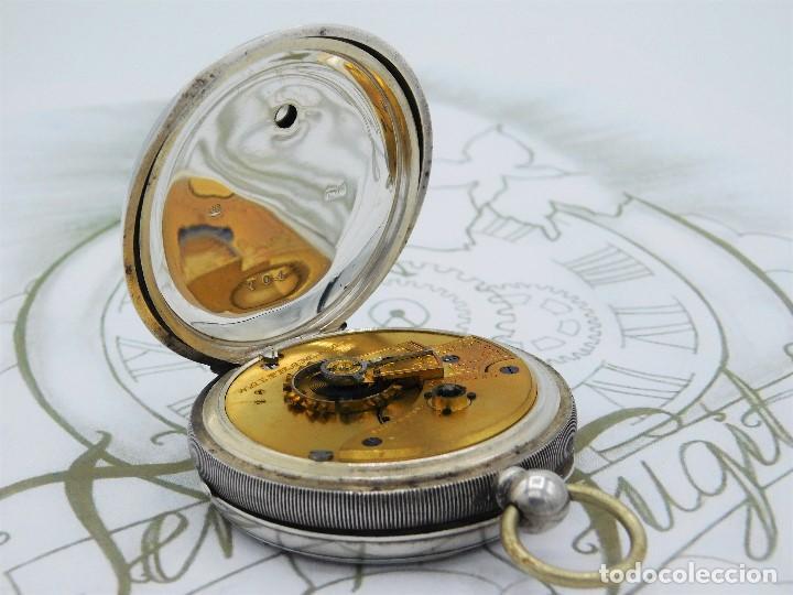 Relojes de bolsillo: WALTHAM-RELOJ BOLSILLO-DE PLATA-CIRCA 1890-FUNCIONANDO-3 TAPAS - Foto 12 - 142611454