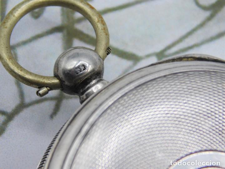 Relojes de bolsillo: WALTHAM-RELOJ BOLSILLO-DE PLATA-CIRCA 1890-FUNCIONANDO-3 TAPAS - Foto 13 - 142611454