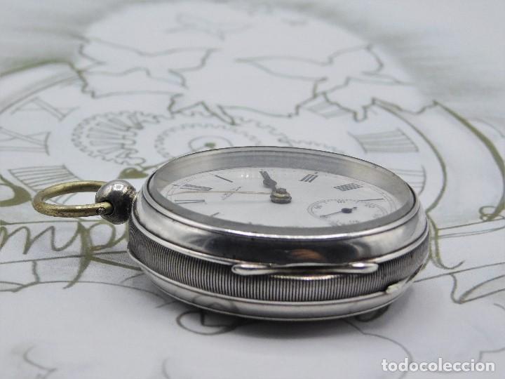 Relojes de bolsillo: WALTHAM-RELOJ BOLSILLO-DE PLATA-CIRCA 1890-FUNCIONANDO-3 TAPAS - Foto 14 - 142611454