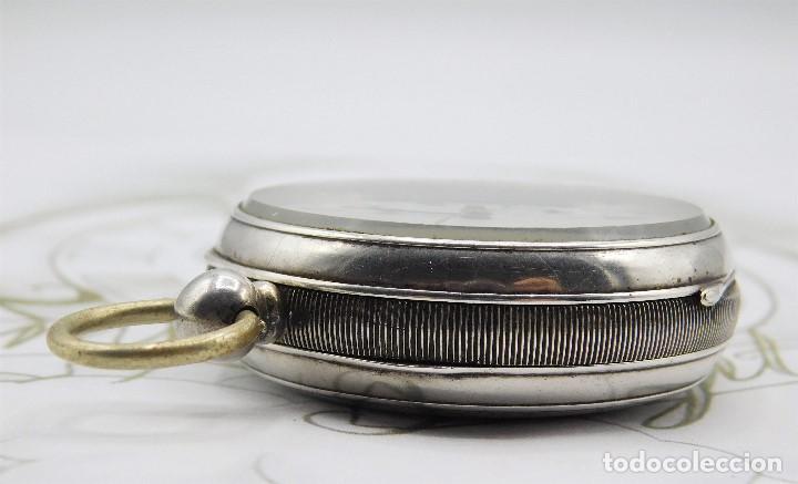 Relojes de bolsillo: WALTHAM-RELOJ BOLSILLO-DE PLATA-CIRCA 1890-FUNCIONANDO-3 TAPAS - Foto 15 - 142611454