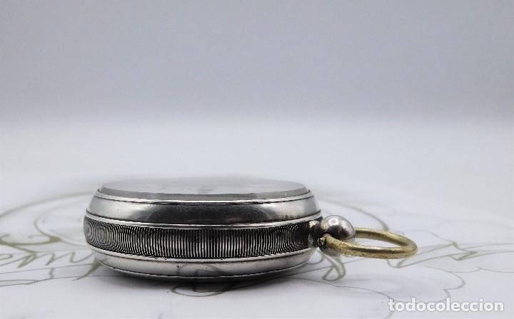 Relojes de bolsillo: WALTHAM-RELOJ BOLSILLO-DE PLATA-CIRCA 1890-FUNCIONANDO-3 TAPAS - Foto 16 - 142611454