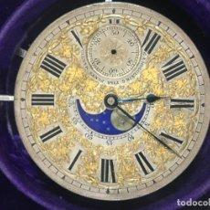 Relojes de bolsillo: MAQUINARIA G.A. HEUGUENIN ANF FILS PONTS MARTEL DOBLE ESFERA. Lote 142672846