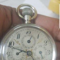 Relojes de bolsillo: RELOJ DE BOLSILLO COMPLICACION CON FASE LUNAR CASI A ESTRENAR CIRCA 1870 1890 FUNCIOMA TODO . Lote 142715390