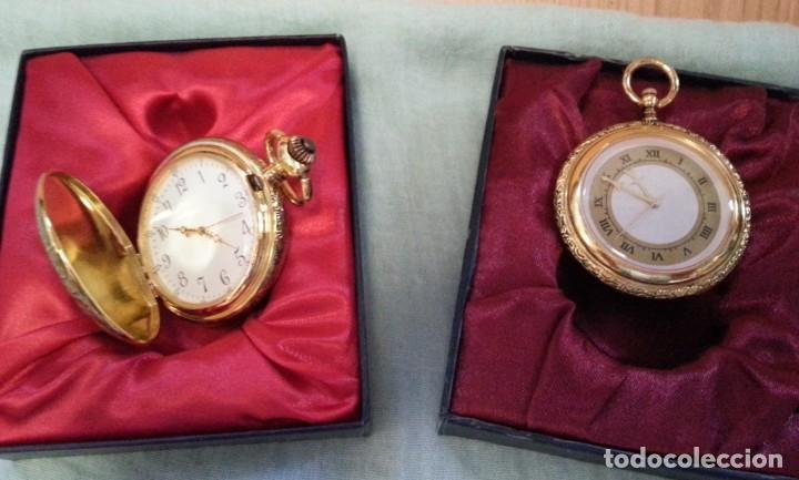 RELOJES DE BOLSILLO. PAREJA. REPRODUCCIONES DE ANTIGUOS RELOJES. NUEVOS. FUNCIONANDO (Relojes - Bolsillo Carga Manual)