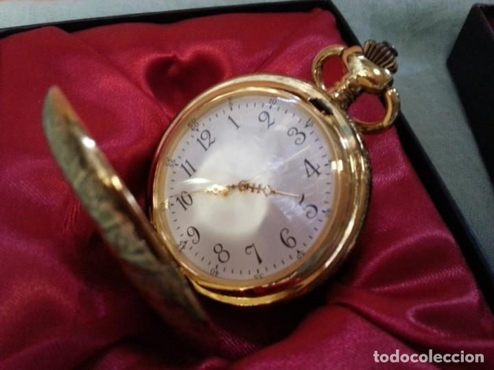 Relojes de bolsillo: Relojes de bolsillo. Pareja. Reproducciones de antiguos relojes. Nuevos. Funcionando - Foto 2 - 142879810