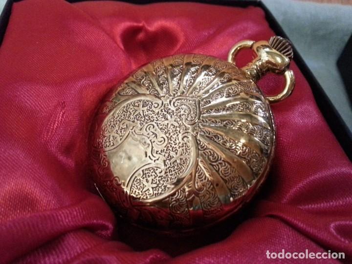 Relojes de bolsillo: Relojes de bolsillo. Pareja. Reproducciones de antiguos relojes. Nuevos. Funcionando - Foto 3 - 142879810