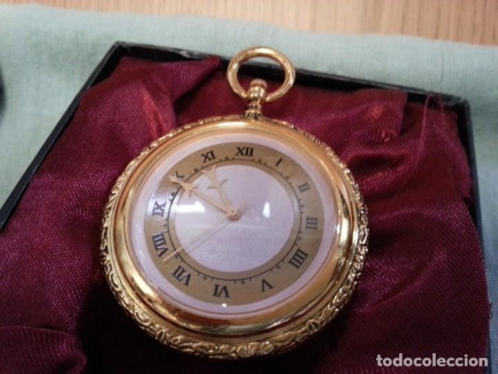 Relojes de bolsillo: Relojes de bolsillo. Pareja. Reproducciones de antiguos relojes. Nuevos. Funcionando - Foto 4 - 142879810
